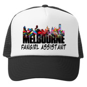 Fangirl Assistant Cap - Black Truckers Cap - Mesh Back